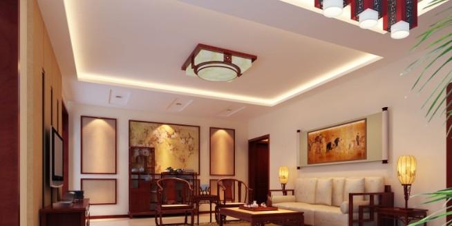 三居室中式风格_欧雅装饰中式奢华风格装修效果图-x团图片