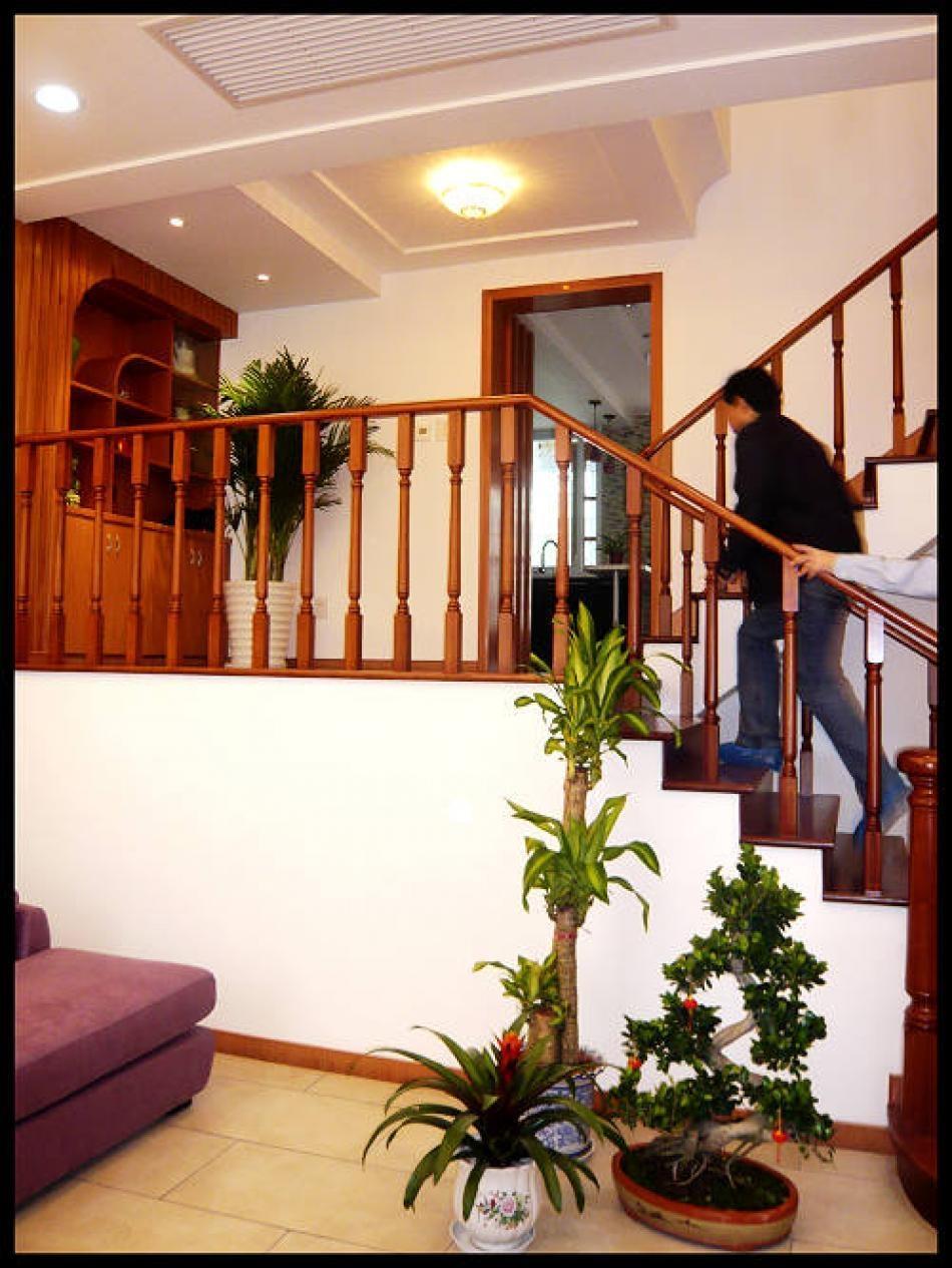 别墅中式风格_碧水豪园排屋装修效果图-x团装修网图片
