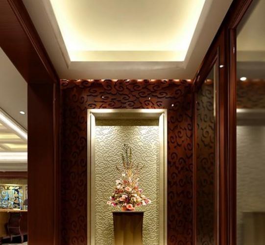 复式楼欧式风格客厅隐形门