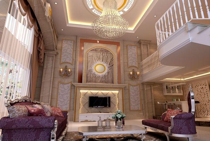 紫帽别墅客厅