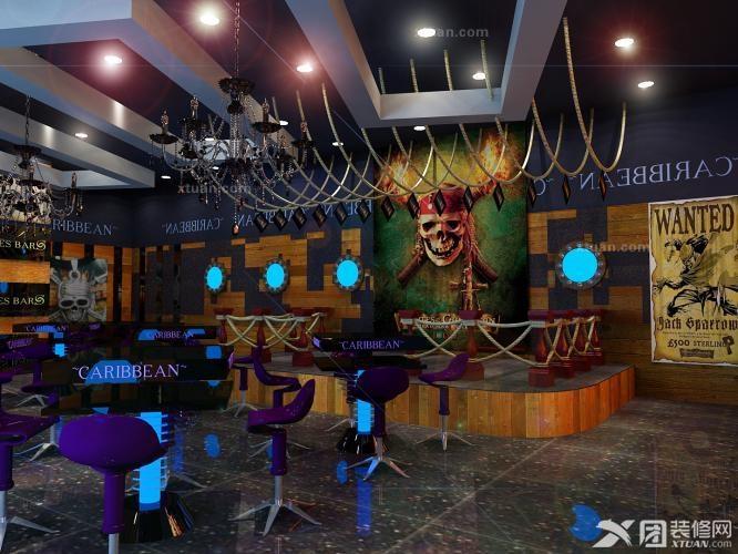 建邦1890-海口加勒比酒吧效果图