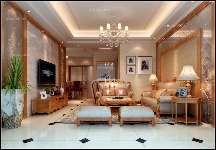 名门世家-三房两厅-简欧风格