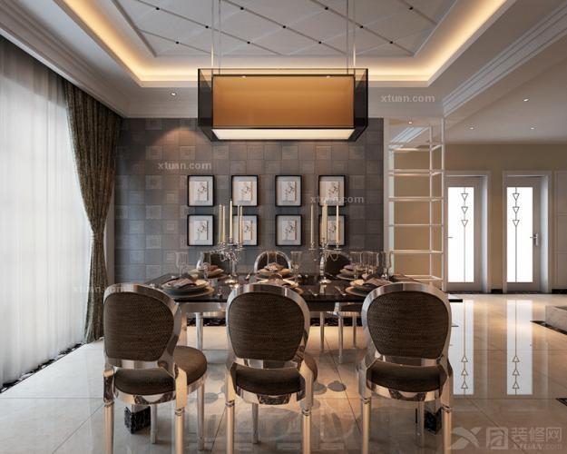 复式楼现代风格餐厅