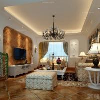 (效果图PK实景图)红谷凯旋-三室两厅-欧式田园风格