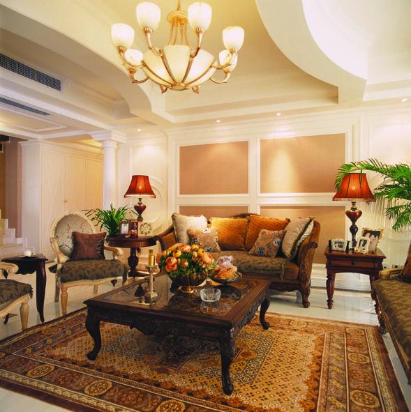 三居室欧式风格衣帽间电视背景墙
