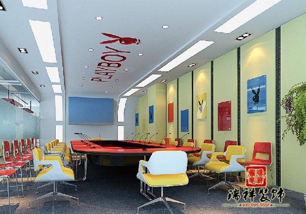 办公室装修经典案例-花花公子办公空间装修案例