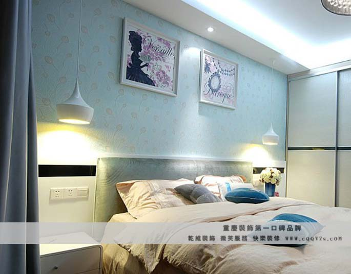 三居室现代风格主卧室