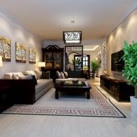 武汉实创装饰-【绿地新都会】128平米三居室|古典中式风格|装修设计案例