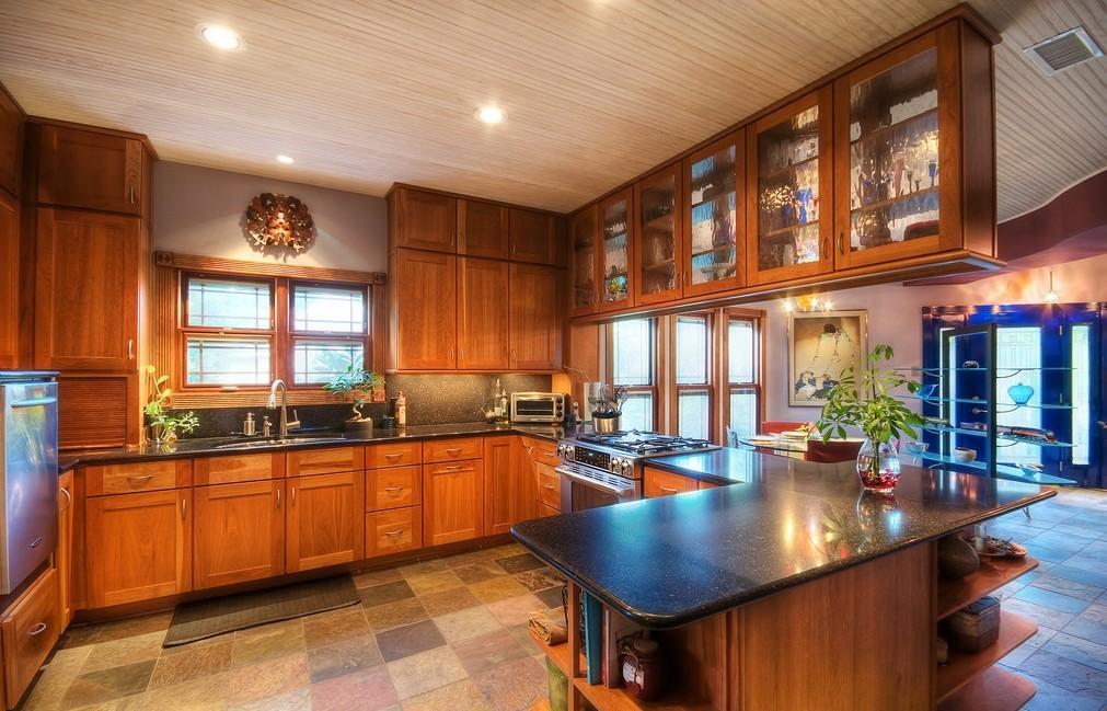 三居室中式风格_现代厨房装修效果图-x团装修网