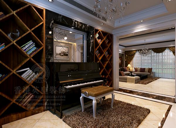 欧式装修钢琴摆放图片