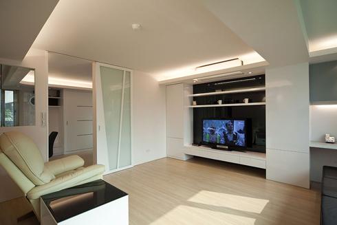四居室现代风格_万科湖心岛装修效果图-x团装修网