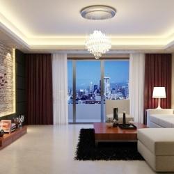 世茂铂翠湾 98平现代简约风格2室2厅 装修效果图-长沙实创装饰
