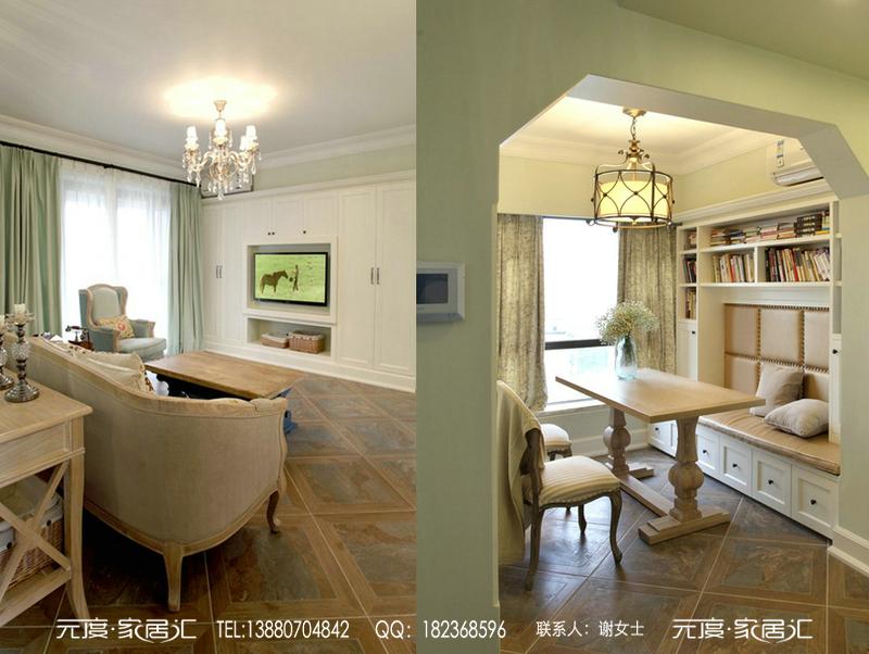 四居室美式风格_成都南湖国际之北欧风格装修效果图-x图片