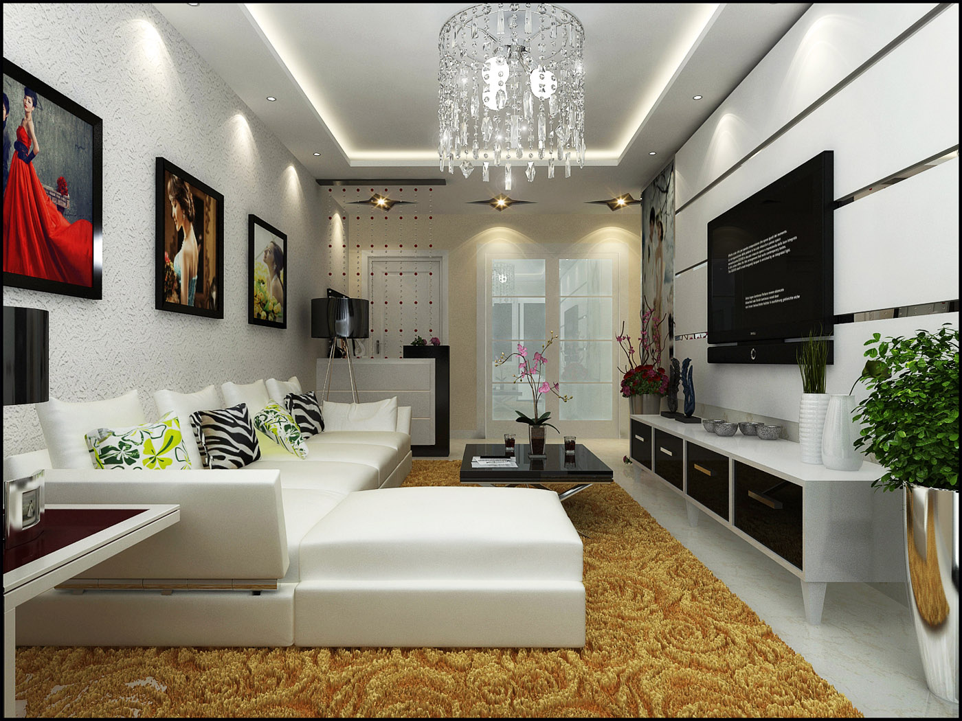 现代简约风格 婚房设计装修效果图-x团装修网