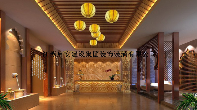 中式风格_上海足浴中心装修效果图