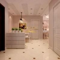 【西安城市人家】卡布奇诺国际社区105.97平欧式田园室内设计