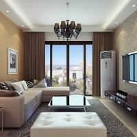 合景峰汇10幢1006室客厅效果图