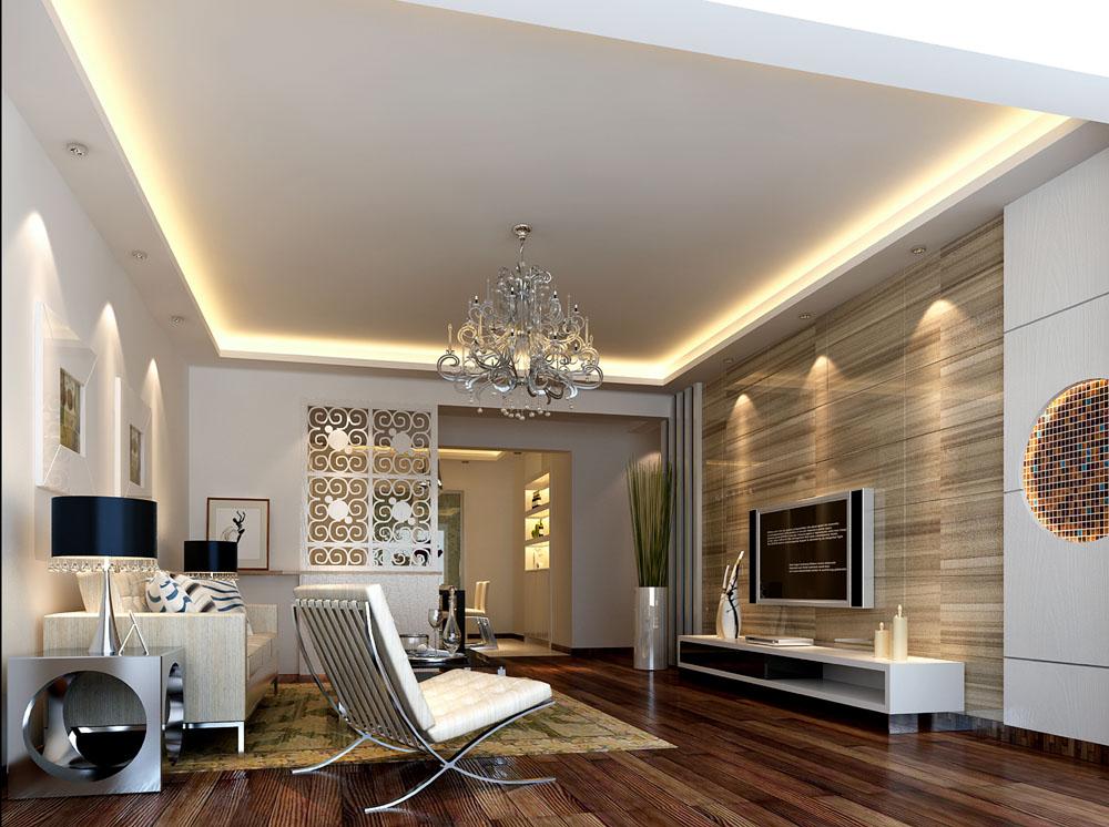 静雅三居室设计 现代简约风格家 三居室装修设计         x团装修网所
