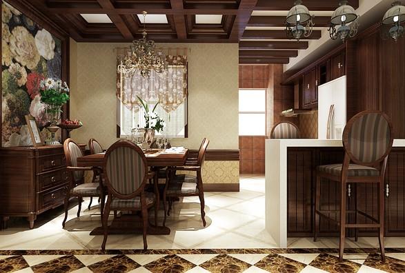三居室美式风格图片