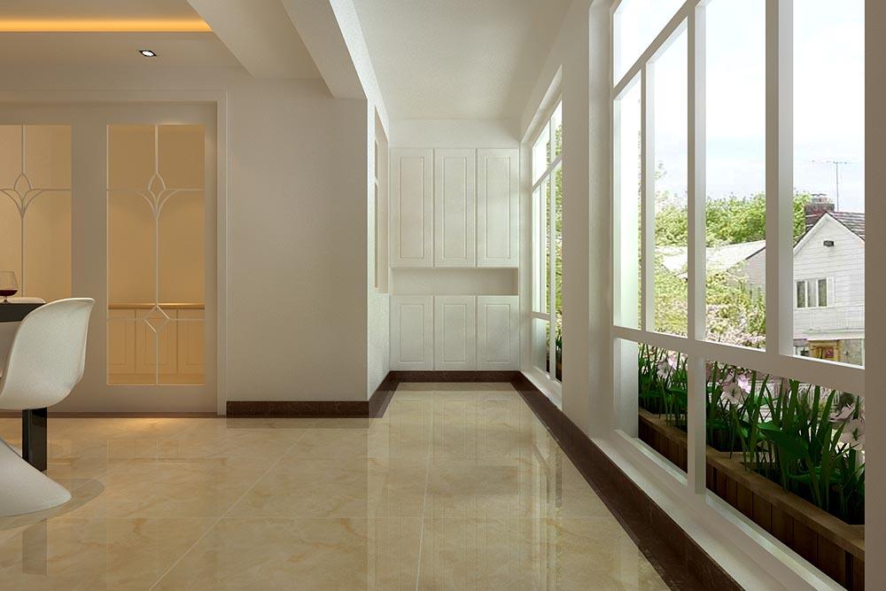 三居室现代风格阳台
