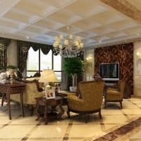 上海宝华海尚郡领四居室户型新古典风格装修设计