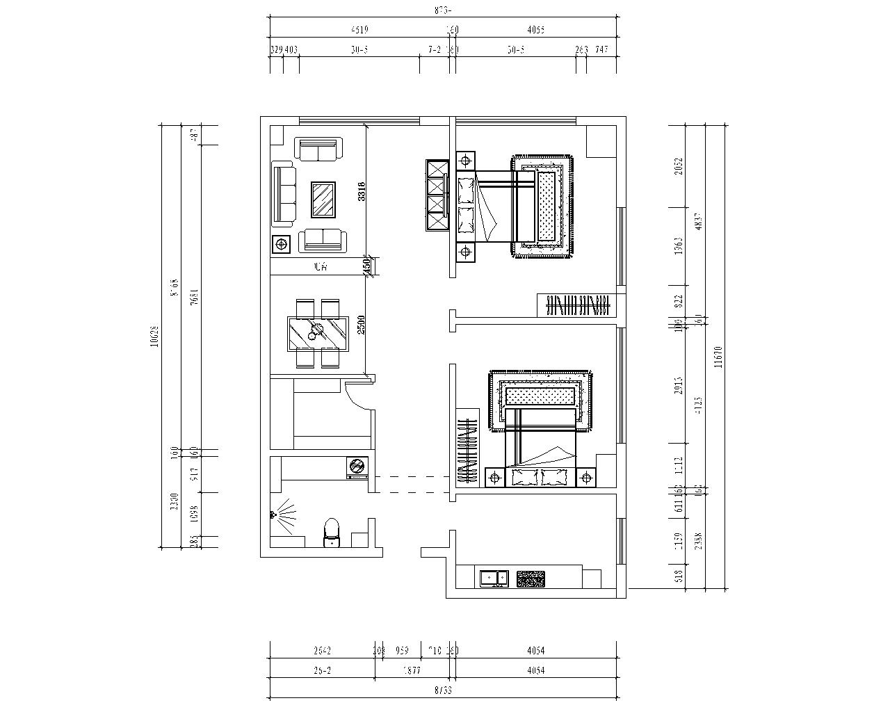 两居室欧式风格