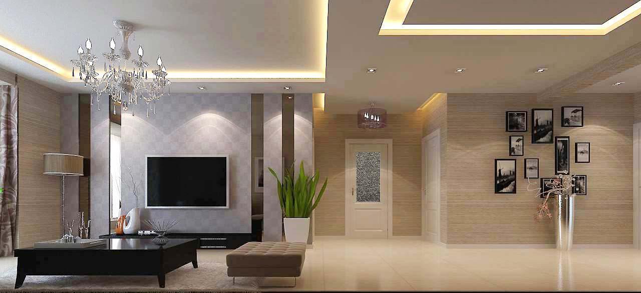两居室简约风格_奥海西湖印象 103平装修效果图-x团
