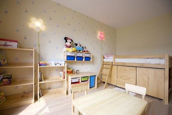 方圆经纬85平米二居室 儿童房装修效果图