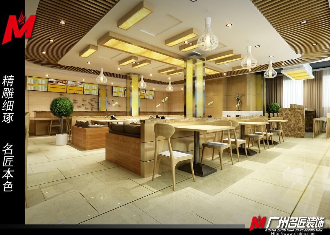 客味品中式快餐厅装修效果图