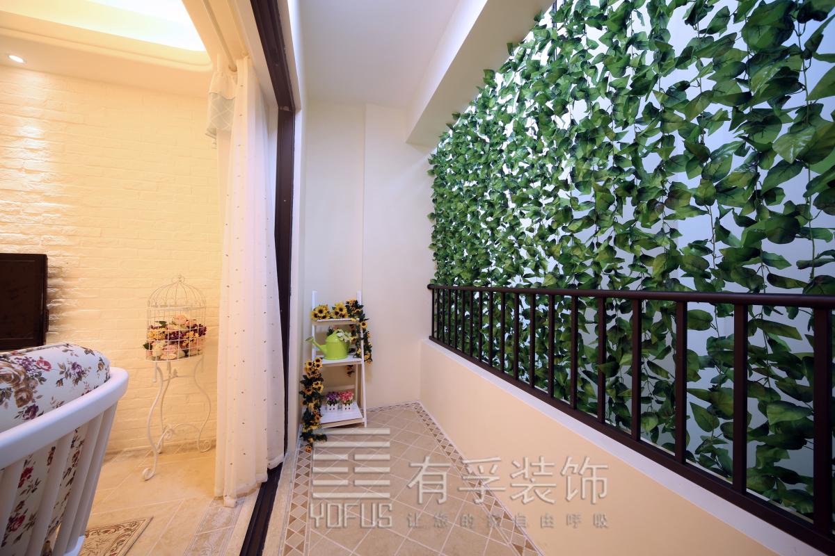 三室两厅韩式风格阳台