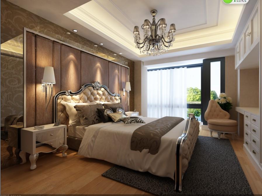 三居室简欧风格卧室_主卧室设计装修效果图