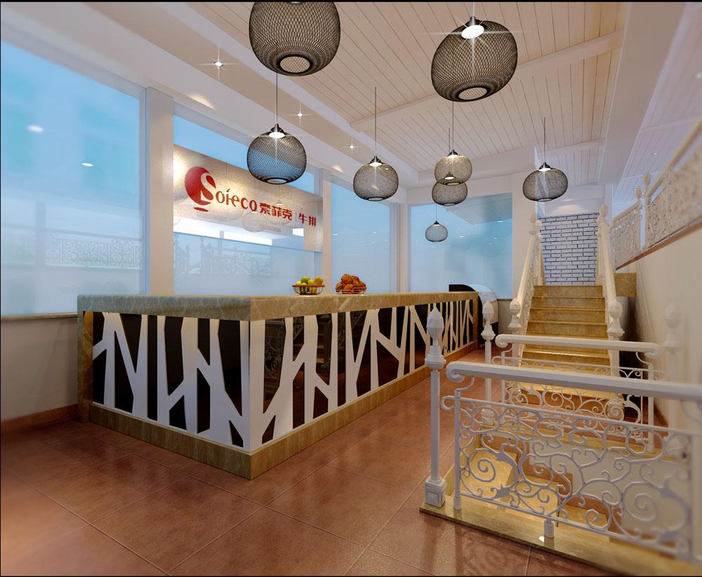 地中海风格_鼓浪屿西餐厅装修效果图-x团装修网