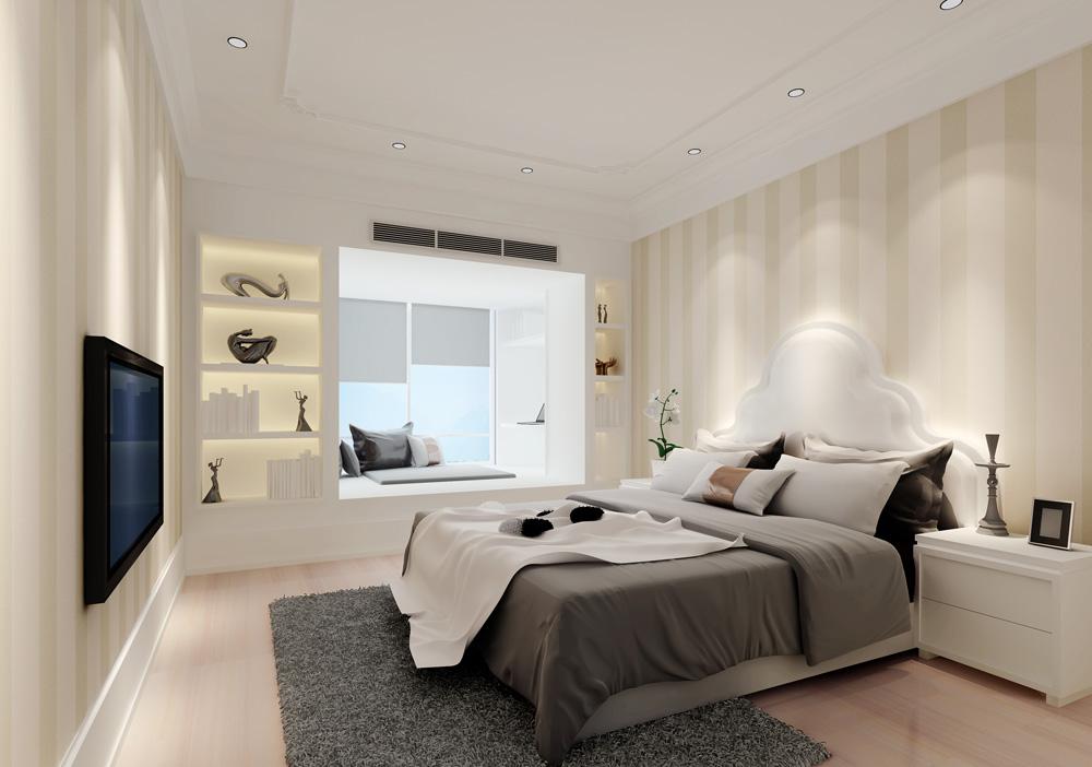 单身公寓现代简约卧室_文灶单身公寓装修效果图-x团
