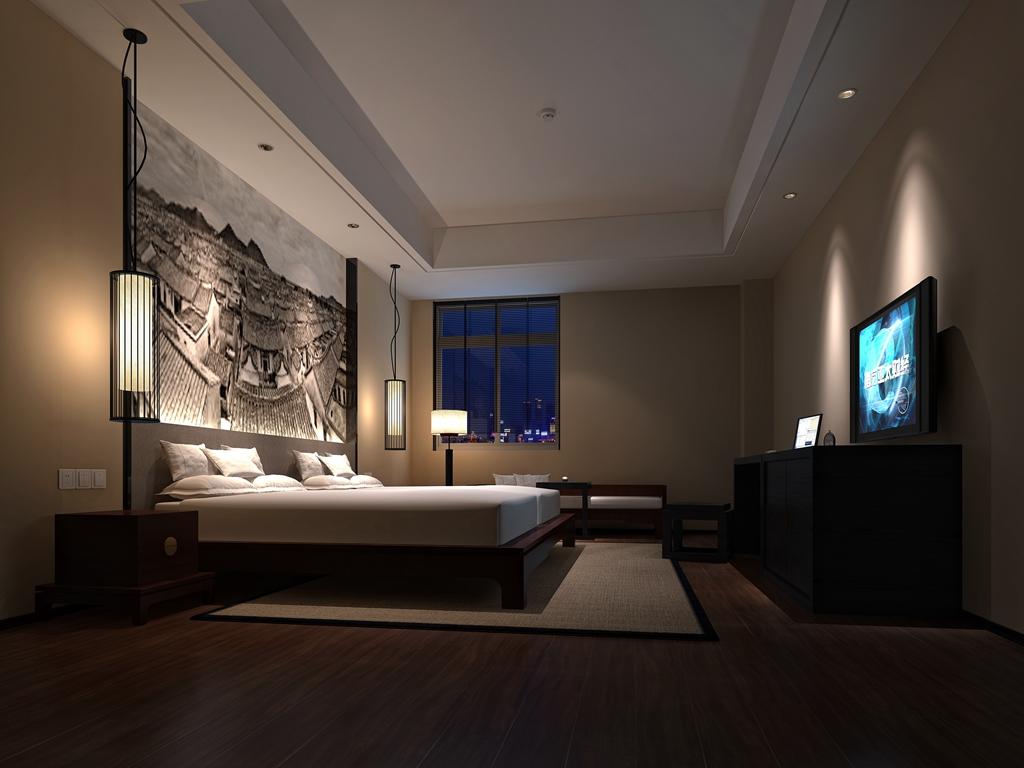 中式风格_厦门ht酒店2装修效果图-x团装修网图片