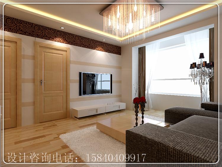 一米阳光 85平两居室简约风格设计 简约而不简单装修效果图