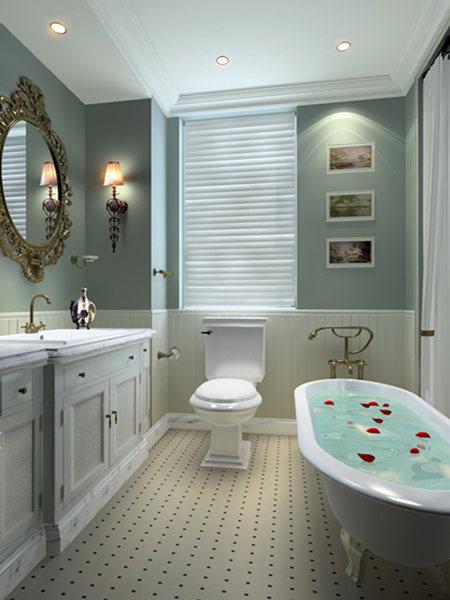 两室两厅地中海风格卫生间_绿都塞纳春天装修效果图-x