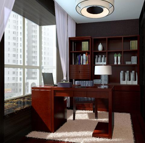 两居室中式风格书房
