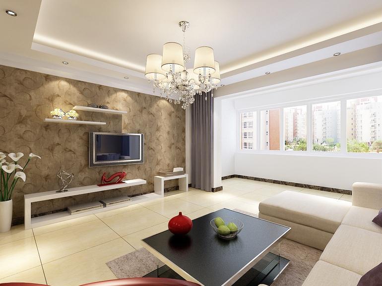四建美林苑-二居室-96平米-装修设计