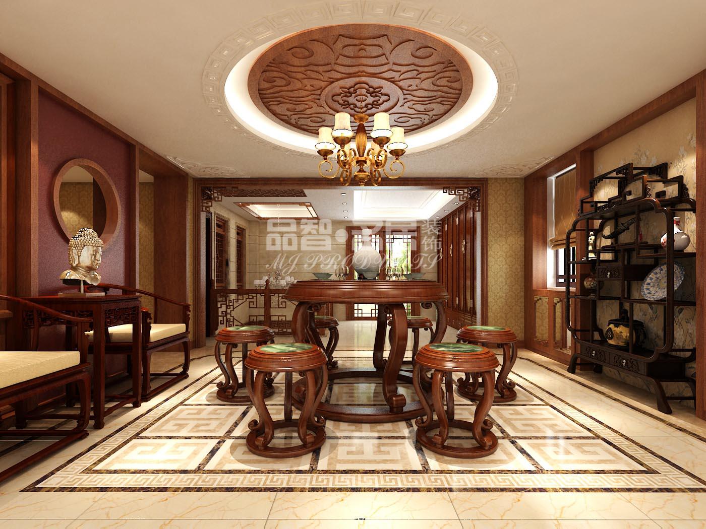 中式风格别墅三百平米装修效果图