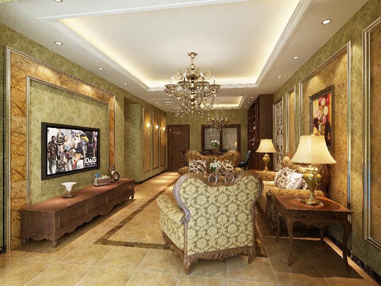 三室两厅简欧风格客厅