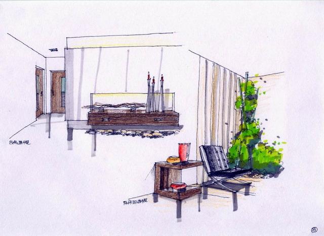 家装手绘图装修效果图