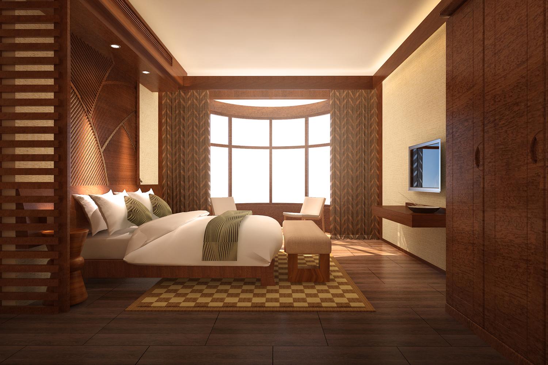 中式风格_客房装修效果图图片
