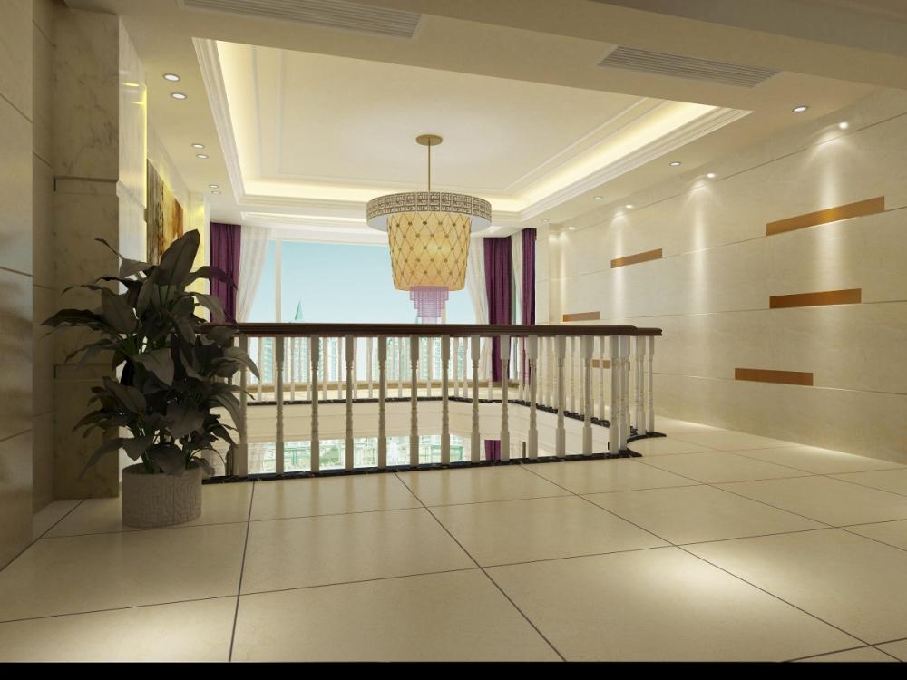 三居室欧式风格客厅_南安楼中楼装修效果图