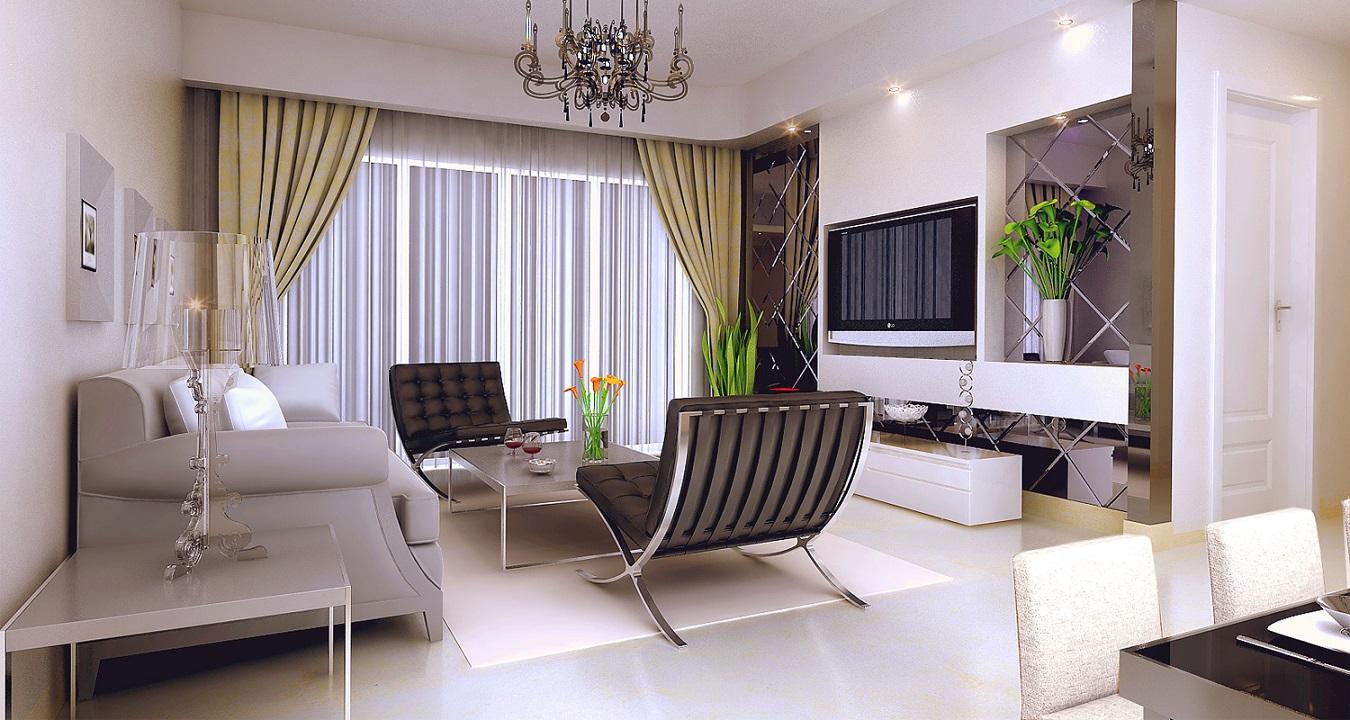 三居室欧式风格客厅_三亚综合执法局小区图片