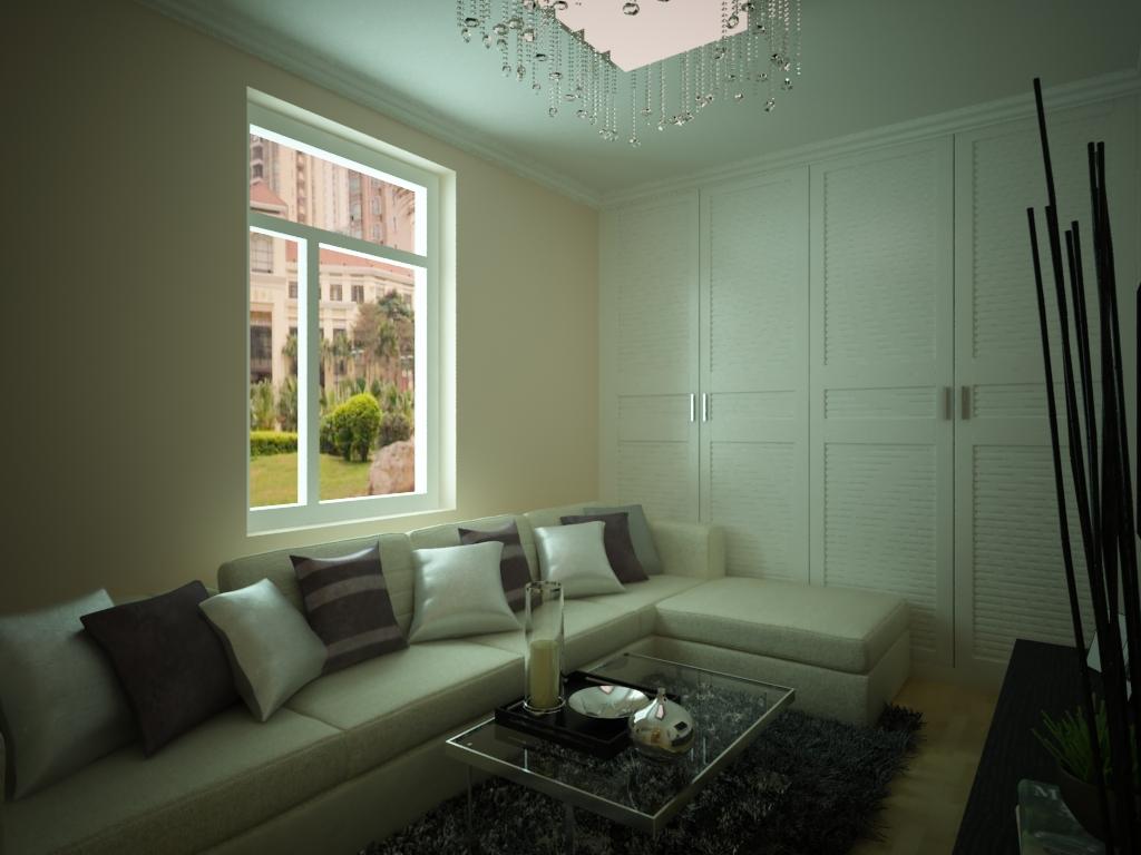 一居室客厅沙发背景墙