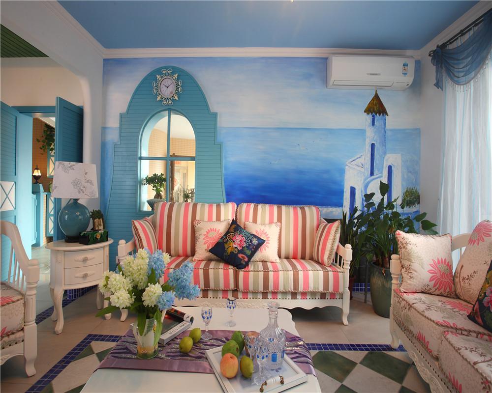 地中海风格(天蓝色,藏蓝色,白色)