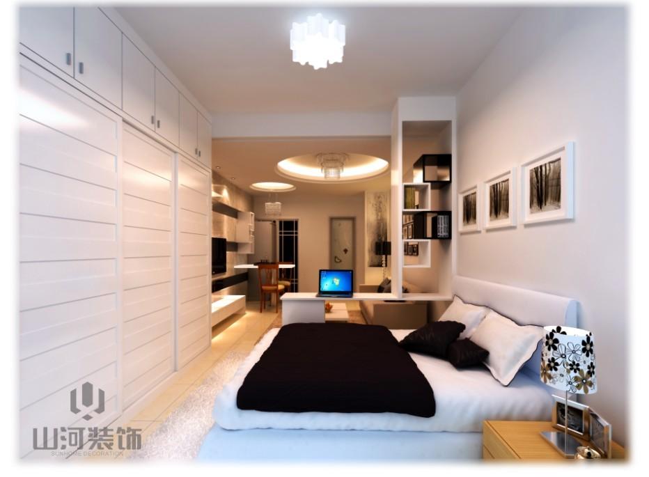 白领公寓现代简约_凯旋公元4#1905装修效果图