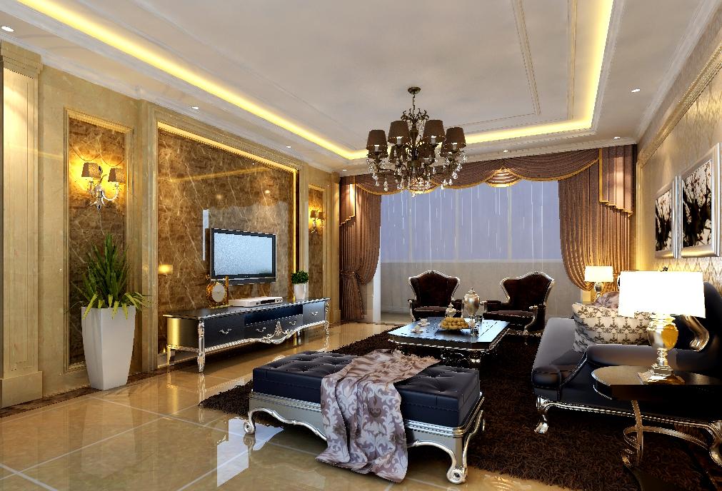 两居室古典风格客厅