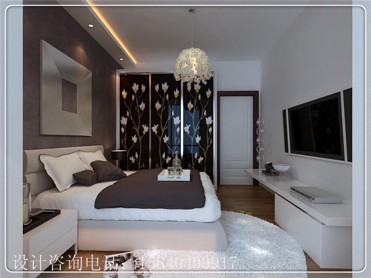 一米阳光 92平两居室现代简约风格设计 黑白灰