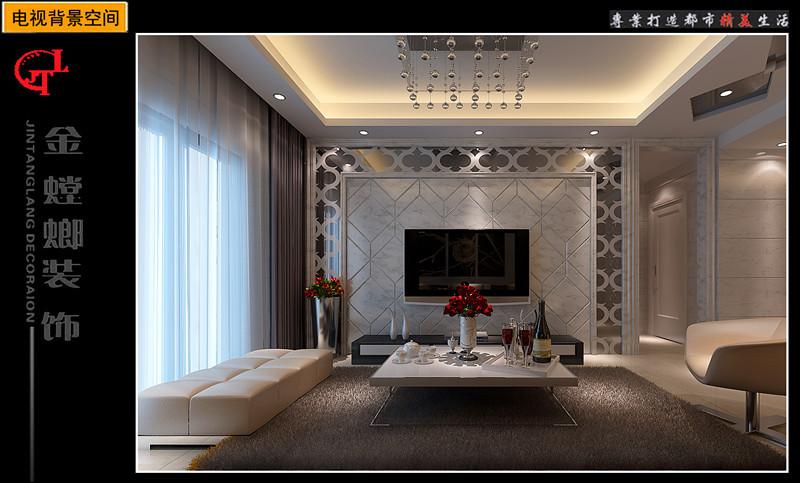两室两厅现代风格客厅_蓝湾半岛17#02装修效果图-x团